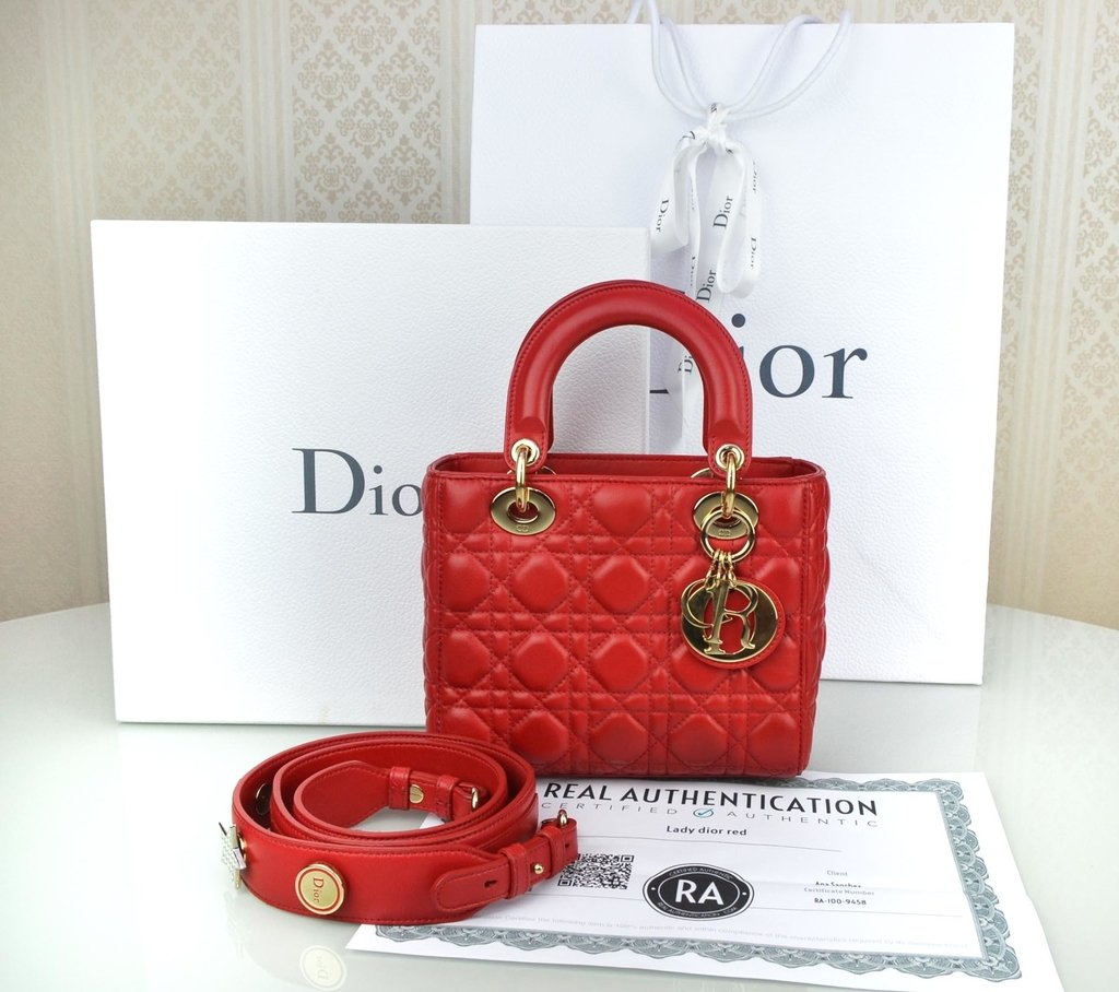 ... Bolsa My Lady Dior Vermelha na internet a1b8ff8e6d