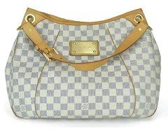 96424f888c3c9 Bolsa Louis Vuitton Galliera Canvas Azur Damier PM