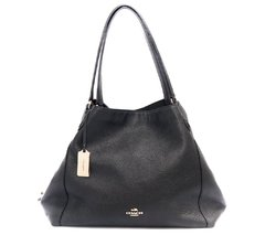 Bolsa Coach Sholder Black Leather