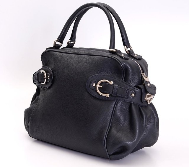Imagem do Bolsa Salvatore Ferragamo Blueberry Pebbled Calfskin