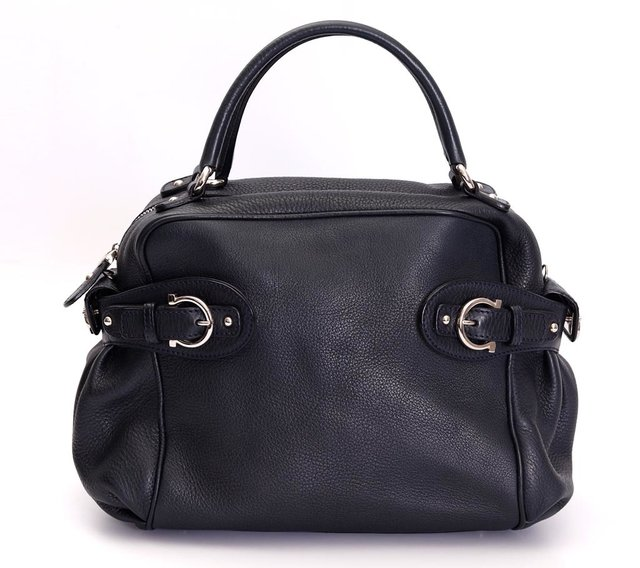 Bolsa Salvatore Ferragamo Blueberry Pebbled Calfskin - loja online