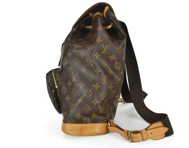 Mochila Louis Vuitton Montsouris GM Monograma - Paris Brechó - Artigos de Luxo Seminovos