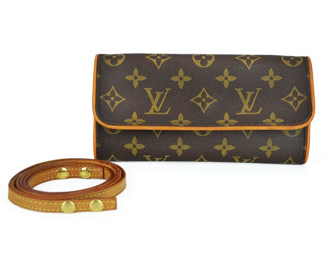 Bolsa Louis Vuitton Monogram Canvas Pochette Twin PM