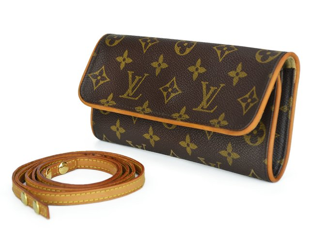 Bolsa Louis Vuitton Monogram Canvas Pochette Twin PM - Paris Brechó - Artigos de Luxo Seminovos
