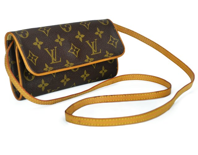 Bolsa Louis Vuitton Monogram Canvas Pochette Twin PM - loja online