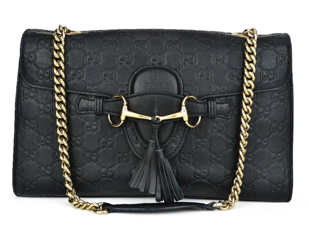 Bolsa Gucci Emily Chain Shoulder Preta 03c0577cce
