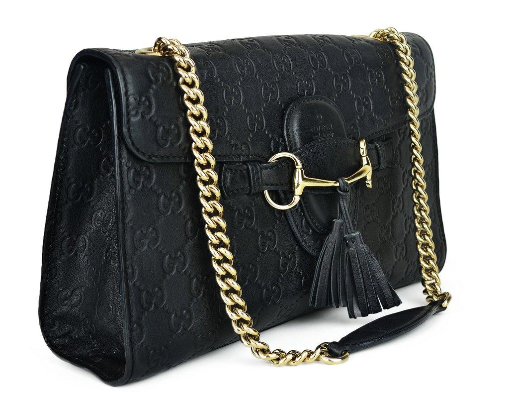 30ef37b26f ... Bolsa Gucci Emily Chain Shoulder Preta - comprar online ...
