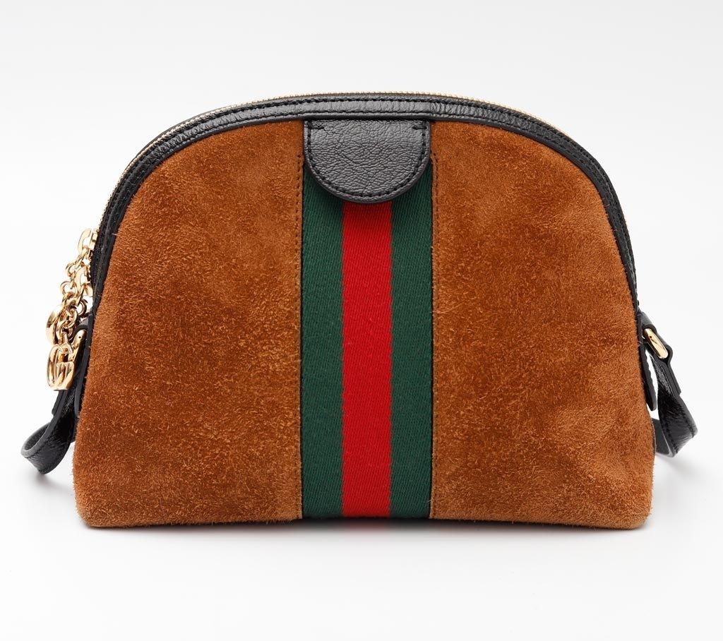 087c5ad2c ... Imagem do Bolsa Gucci Ophidia Suede Marrom Pequena ...