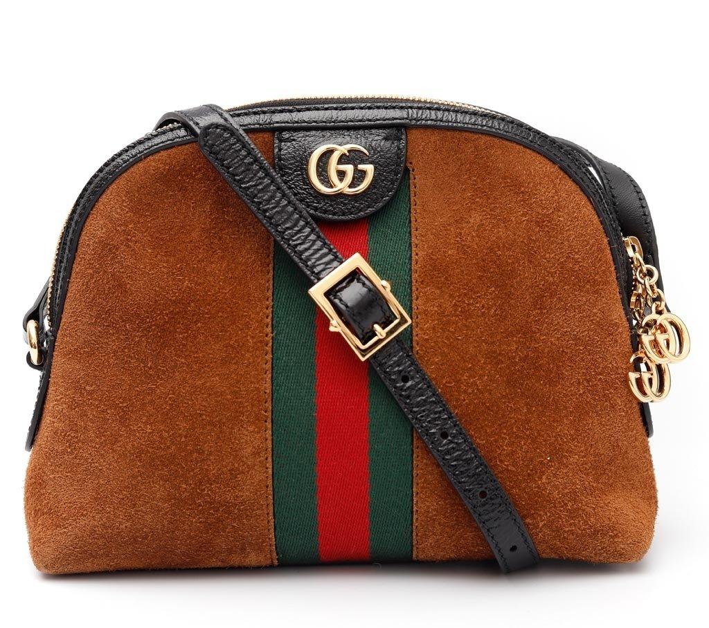 2f8676c93 Bolsa Gucci Ophidia Suede Marrom Pequena