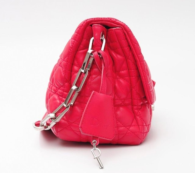Imagem do Christian Dior Pink Cannage Quilted Lambskin Leather New Lock Flap Bag