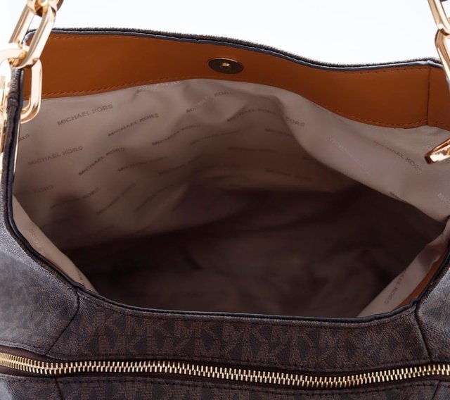 Imagem do Bolsa Michael Kors Shoulder Monograma Jet Set Ébano