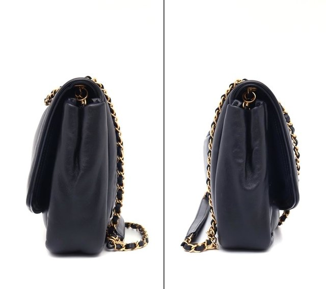 Bolsa Chanel Original Black Puffy Lambskin Flap - loja online