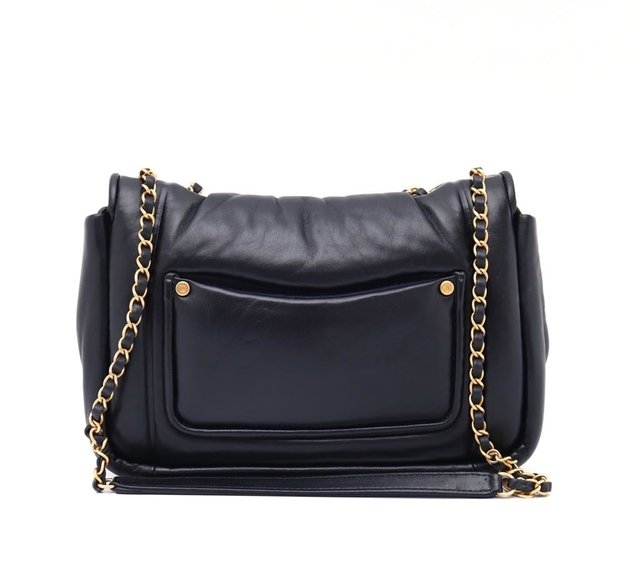 Imagem do Bolsa Chanel Original Black Puffy Lambskin Flap