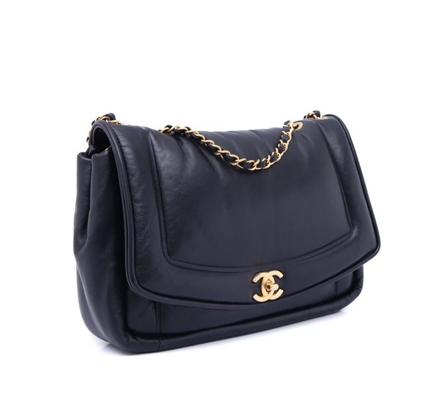 Bolsa Chanel Original Black Puffy Lambskin Flap - comprar online