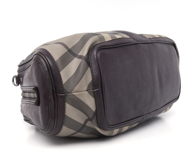 Mala Burberry Smoked Check Coated Canvas Shoulder - comprar online