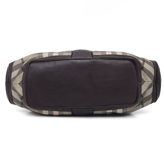 Mala Burberry Smoked Check Coated Canvas Shoulder na internet