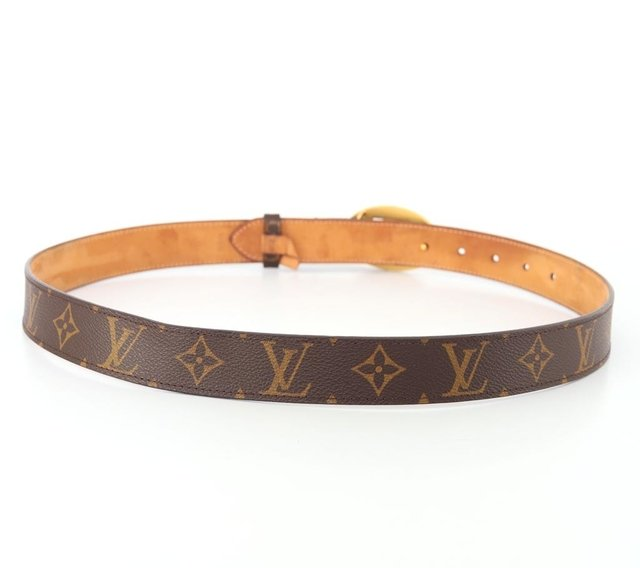 Cinto Louis Vuitton Monograms Cut Oval Tam 90