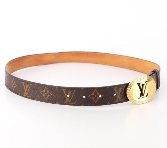 Imagem do Cinto Louis Vuitton Monograms Cut Oval Tam 90