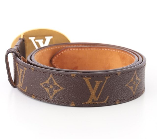 Cinto Louis Vuitton Monograms Cut Oval Tam 90 - Paris Brechó - Artigos de Luxo Seminovos