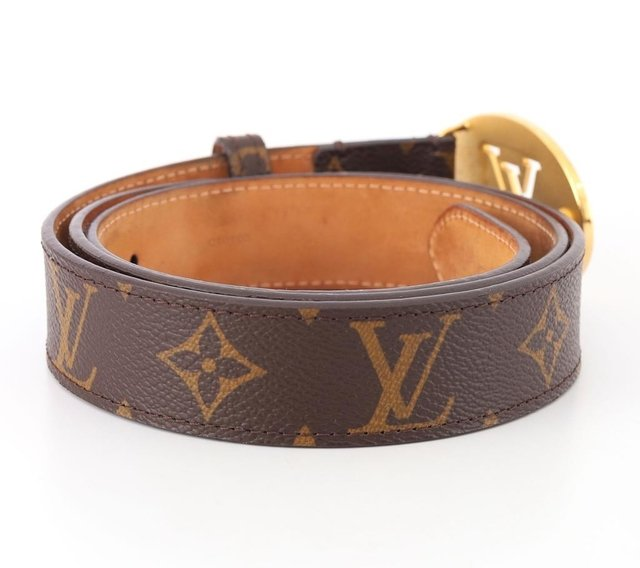 Cinto Louis Vuitton Monograms Cut Oval Tam 90 na internet