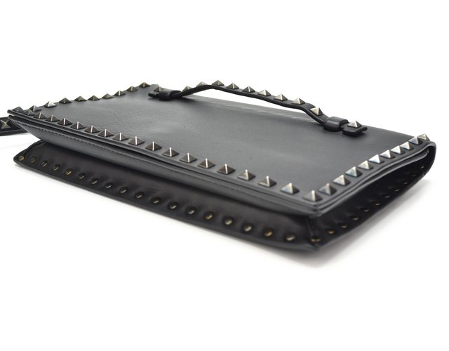 Clutch Valentino Black Nappa Leather Rockstud