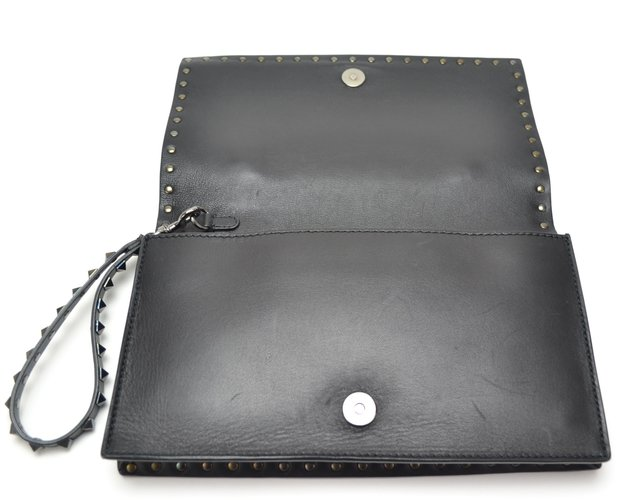 Clutch Valentino Black Nappa Leather Rockstud na internet