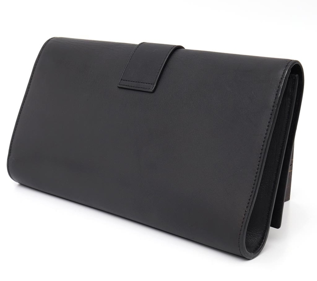 Imagem do Clutch Yves Saint Laurent Black Leather Ligne Y