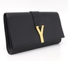 Clutch Yves Saint Laurent Black Leather Ligne Y na internet