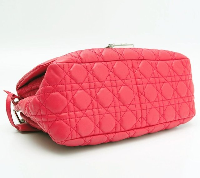 Christian Dior Pink Cannage Quilted Lambskin Leather New Lock Flap Bag na internet