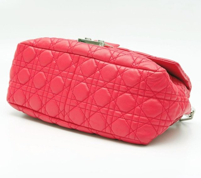 Christian Dior Pink Cannage Quilted Lambskin Leather New Lock Flap Bag - comprar online