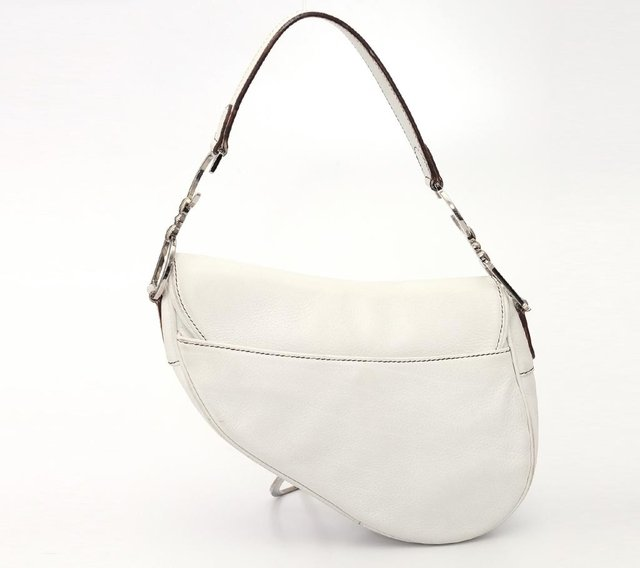 Christian Dior Calfskin Saddle Bag White na internet