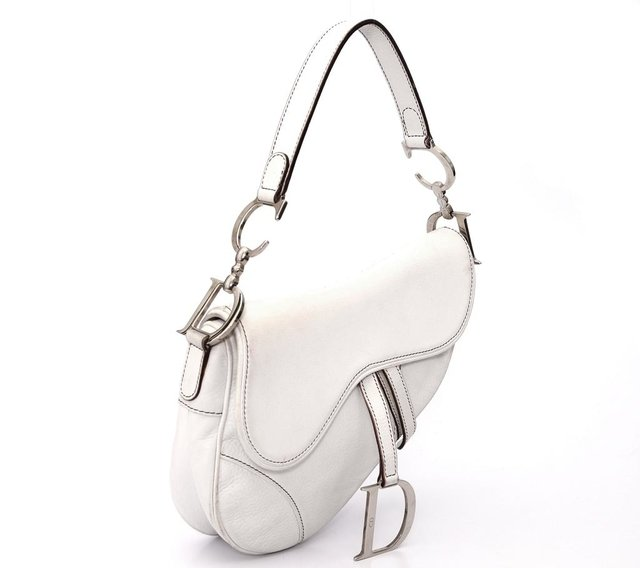 Christian Dior Calfskin Saddle Bag White - comprar online