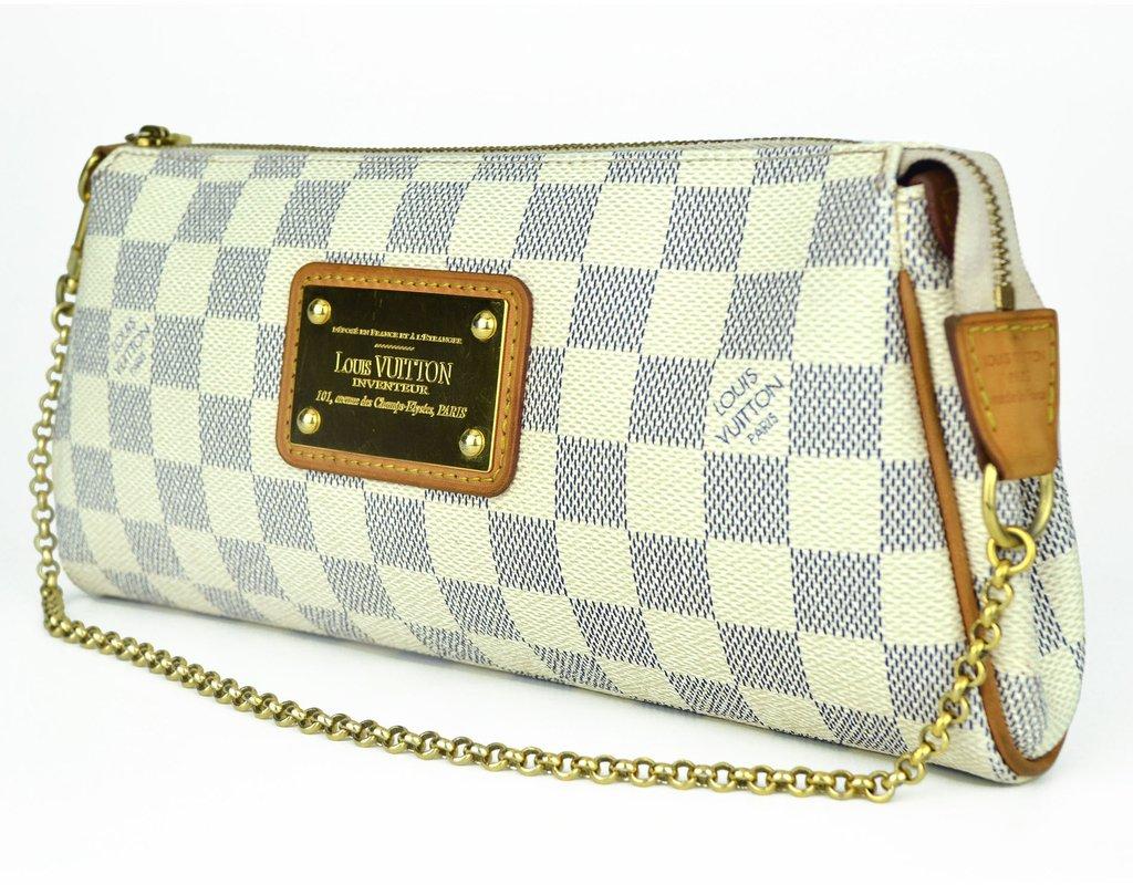 f45cd12e4 Clutch Louis Vuitton Eva Damier Azur