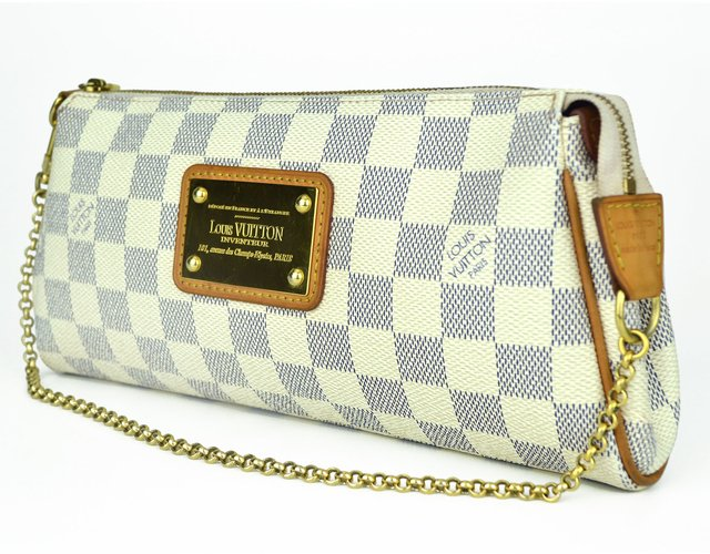 Clutch Louis Vuitton Eva Damier Azur