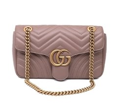 Bolsa GG Marmont Small Matelasse Shoulder Taupe