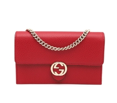 Bolsa Gucci Interlocking G Wallet On Chain Vermelha
