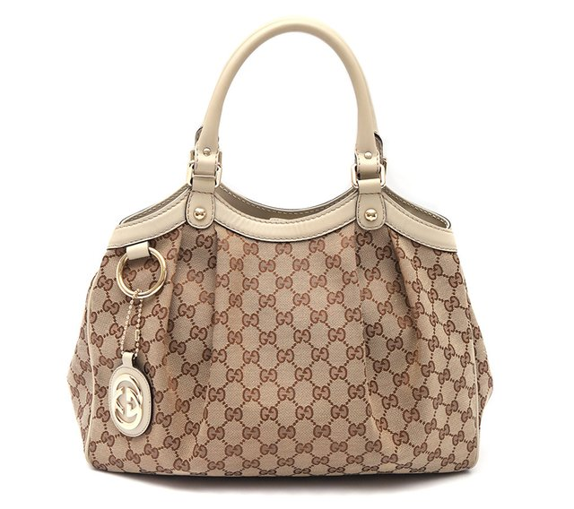 Bolsa Gucci Sukey Media Beige/White