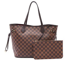 Bolsa Louis Vuitton Neverfull MM Damier Ébène