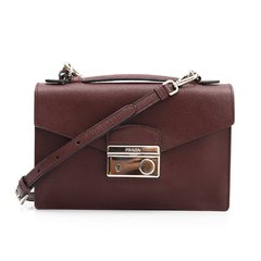 Prada Saffiano Small Sound Crossbody Vinho