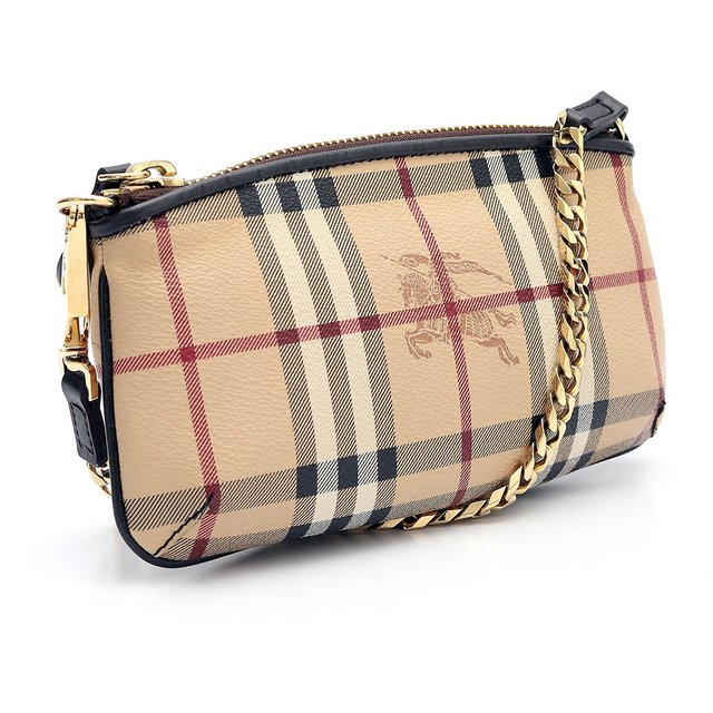 Bolsa Clutch Burberry Haymarket Check na internet