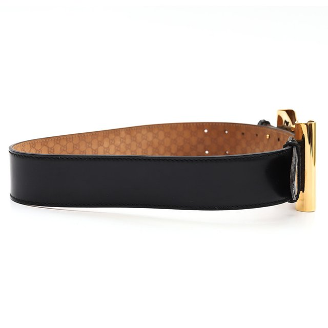 Cinto Gucci Double Buckle Patent Tam 80 - loja online