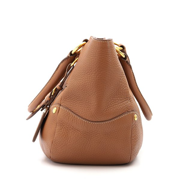 Bolsa Prada Shoulder Buckle Vitello Daino Caramelo