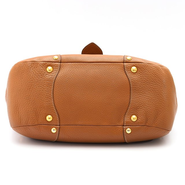 Imagem do Bolsa Prada Shoulder Buckle Vitello Daino Caramelo