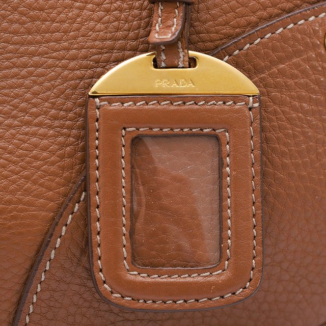 Bolsa Prada Shoulder Buckle Vitello Daino Caramelo na internet