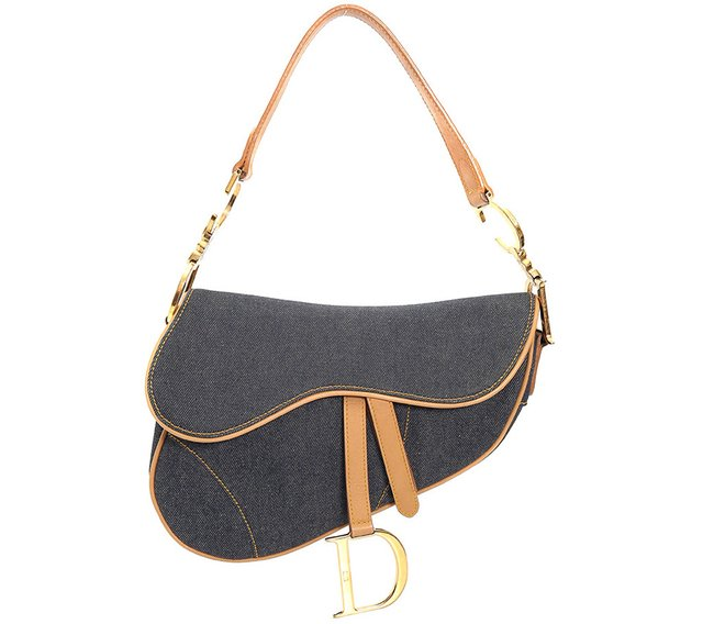 Bolsa Christian Dior Denim Saddle