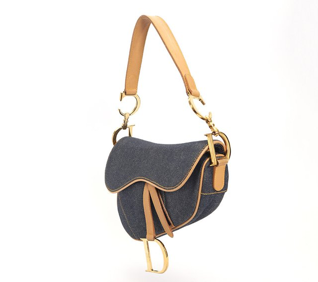 Imagem do Bolsa Christian Dior Denim Saddle