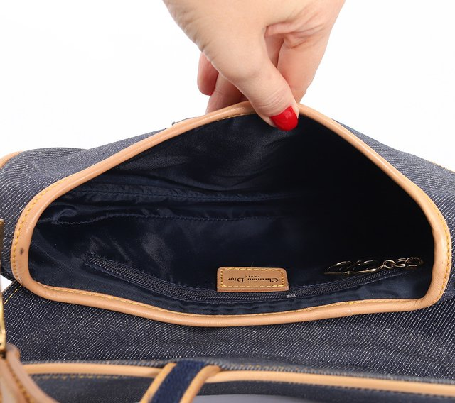 Bolsa Christian Dior Denim Saddle na internet