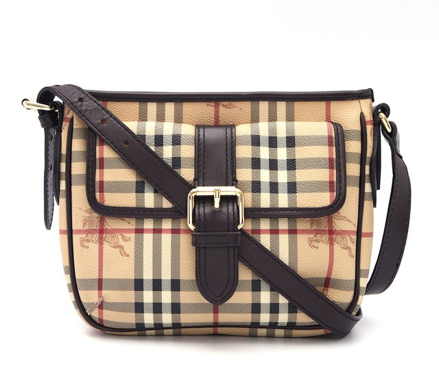 Bolsa Burberry Haymarket Check Coated Canvas Crossbody