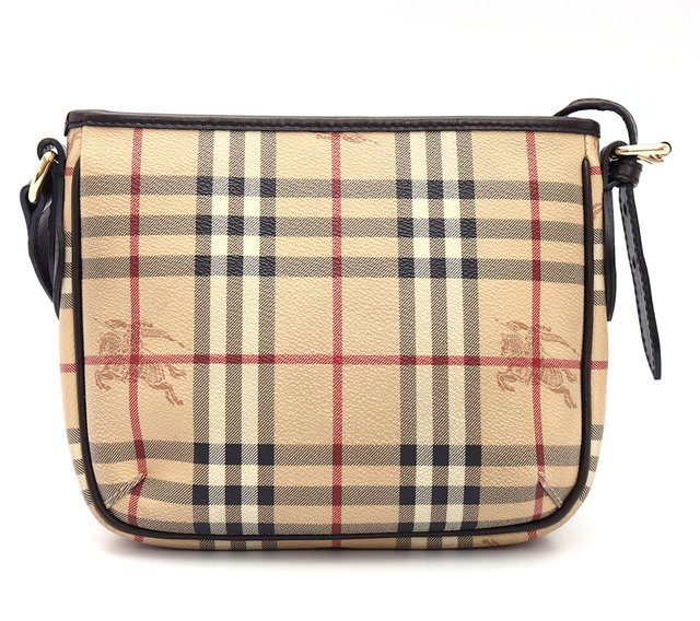Bolsa Burberry Haymarket Check Coated Canvas Crossbody - Paris Brechó - Artigos de Luxo Seminovos