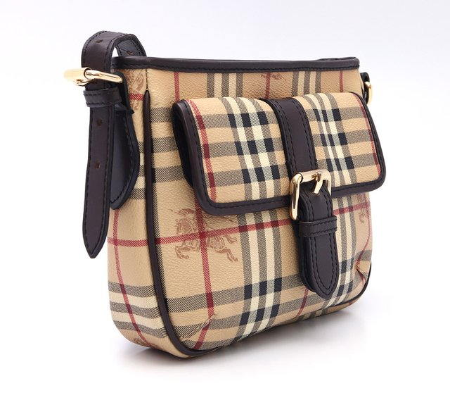 Bolsa Burberry Haymarket Check Coated Canvas Crossbody na internet